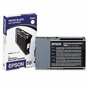 ORIGINAL Epson Cartuccia ink jet black  foto  T543100 T5431 110ml