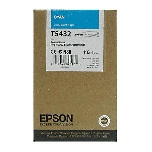ORIGINAL Epson Cartuccia ink jet cyan T543200 T5432 110ml