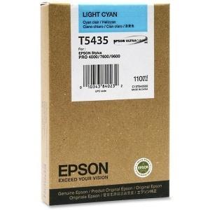 ORIGINAL Epson Cartuccia ink jet cyan  chiaro  T543500 T5435 110ml