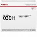 Originale Canon toner nero 039h 0288C001 - 25000 Pag