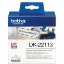 ORIGINAL Brother Etichette  DK-22113  etichetta a lunghezza continua, 62mm x 15,24m trasparente