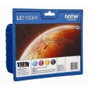 ORIGINAL Brother Value Pack colore LC1100HYVALBPDR LC1100HY Multi Pack, 4x Cartucce d'inchiostro: hybk/hyc/hym/hyy