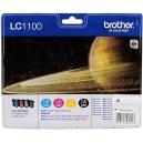 ORIGINAL Brother Value Pack colore LC1100VALBPDR LC1100 confezione multi: bk/c/m/y