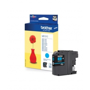 ORIGINALE Brother 121 Cartuccia cyan LC121C LC-121 / 300 PAG 3.9ml