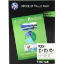 Kit Value Pack HP F6U78AE Color 3 cartucce 935XL 1x Cy  1x Ma 1x Ye + 25 pag Ink-jet carta opaco 180 g/m² + 50 Pag HP carta 80 G
