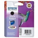 ORIGINALE Epson Cartuccia INK JET nero C13T08014011 T0801 ~330 PAG  7.4ml