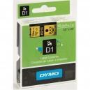 ORIGINAL DYMO nastro laminato nero su giallo S0720580 45018 12mm x 7m, Standard-D1-ruolo
