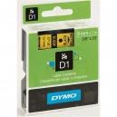 ORIGINAL DYMO nastro laminato nero su giallo S0720730 40918 9mm x 7m, nastro standard D1