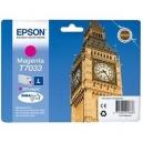 ORIGINALE Epson Cartuccia INK JET magenta C13T70334010 T7033 ~800 PAG