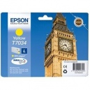 ORIGINALE Epson Cartuccia INK JET yellow C13T70344010 T7034 ~800 PAG