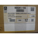 ORIGINAL Zebra Etichette  800261-105 12PCK Z -Select 12 Rotoli, termo, 2000D, 31,75x25,4 mm, 2580 Et./Rotolo